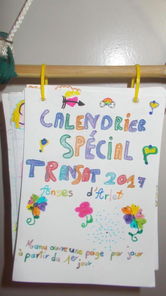 Le calendrier éphéméride que nous avons offert à Manu!