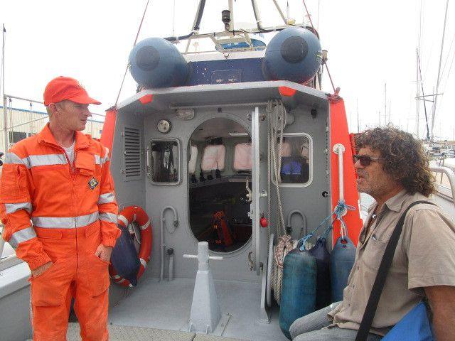 Port Leucate, rencontre avec la SNSM...