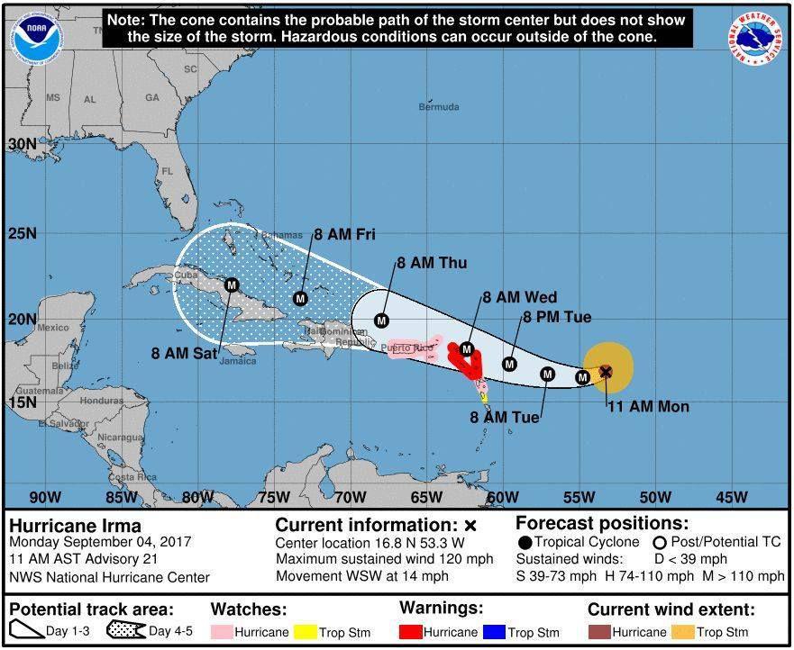 Le cyclone Irma arrive...