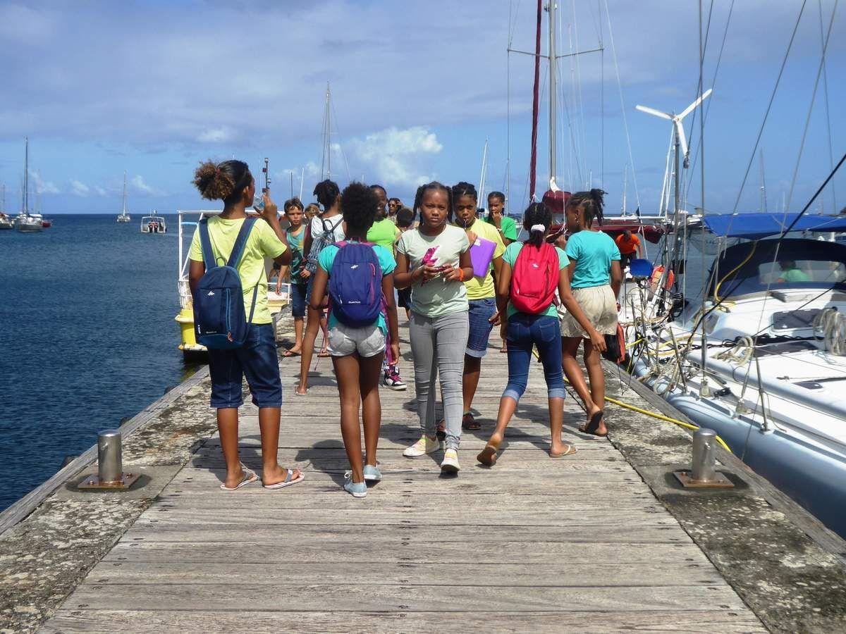 Visite de notre AME en bateau!!!