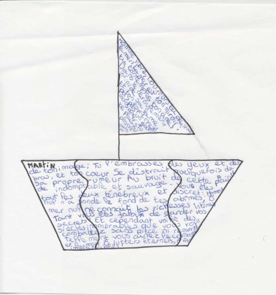 Par les copains du Bono : l'homme et la mer en calligrammes.