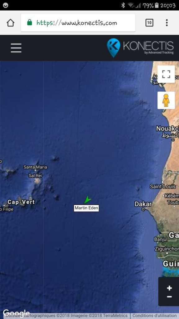 Position de Martin ce 30 août à 23 h UTC