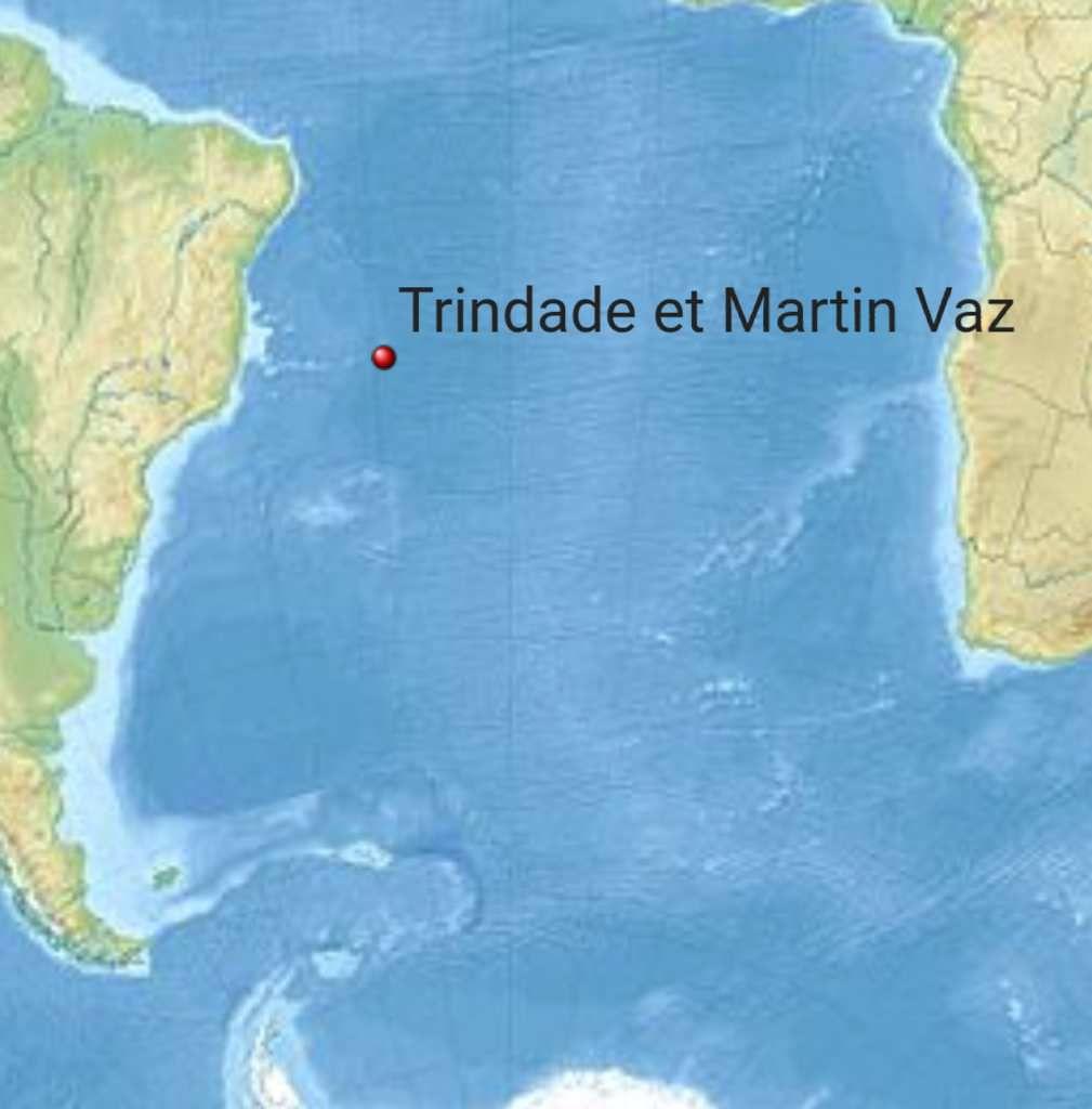 L'île Trindad et l'archipel de Martin Vaz