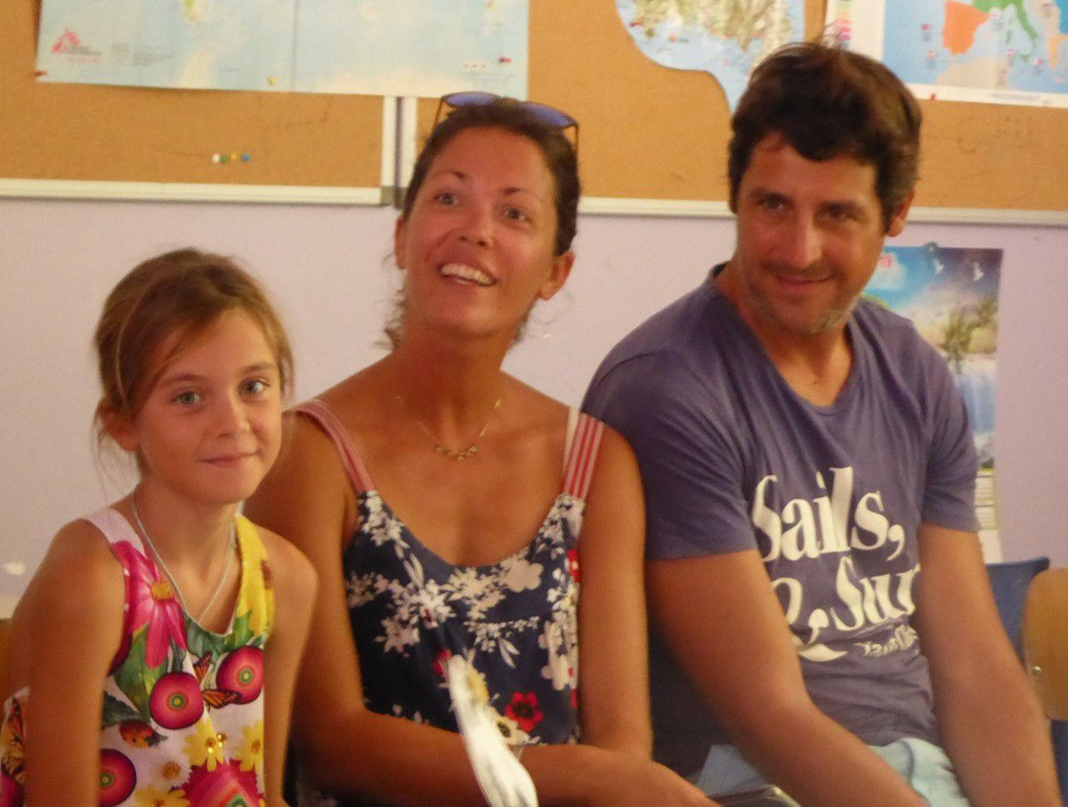 Elisa et ses parents, Emilie et Francesco