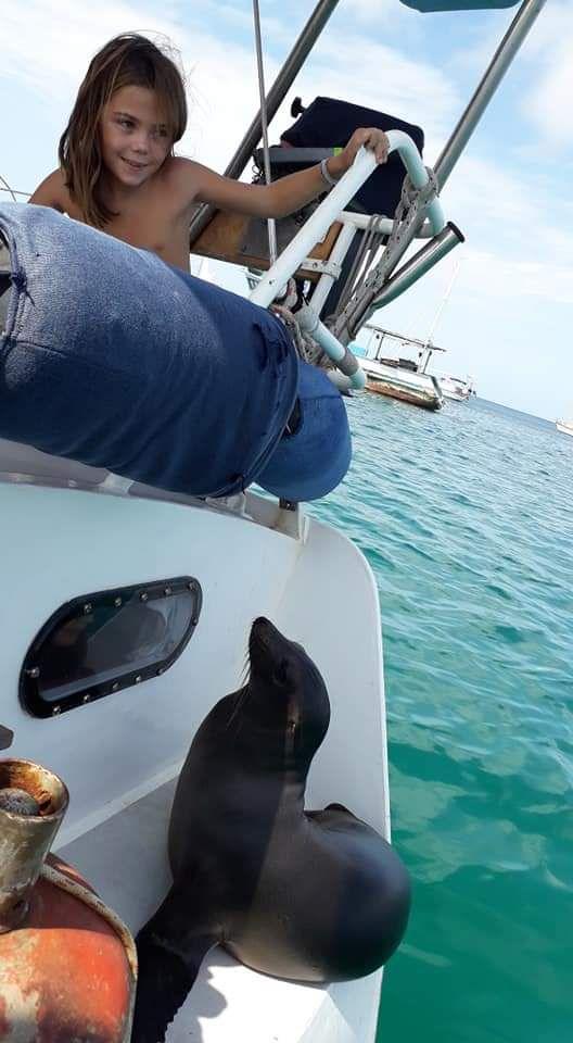 Bienvenue à Clémence et Alexandre du bateau Eclipse, ici aux Galapagos.