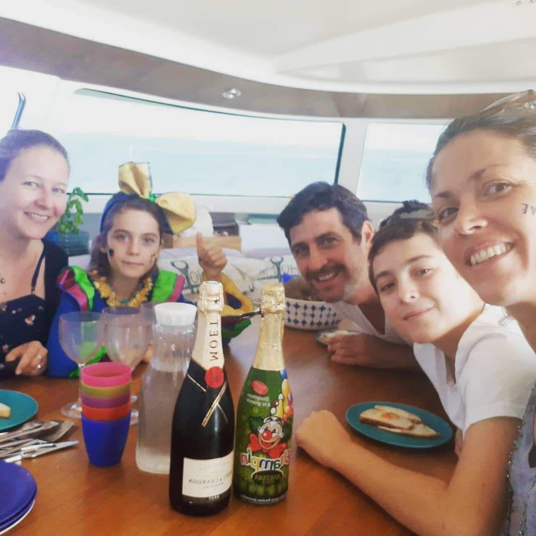 Passage de l'équateur pour l'équipage Kissanga