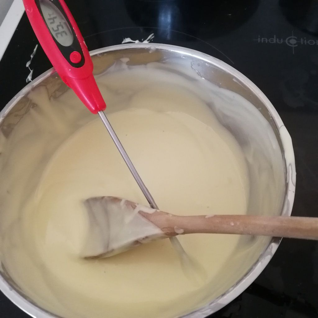 chocolat blanc fourré caramel beurre salé cuisineaddict