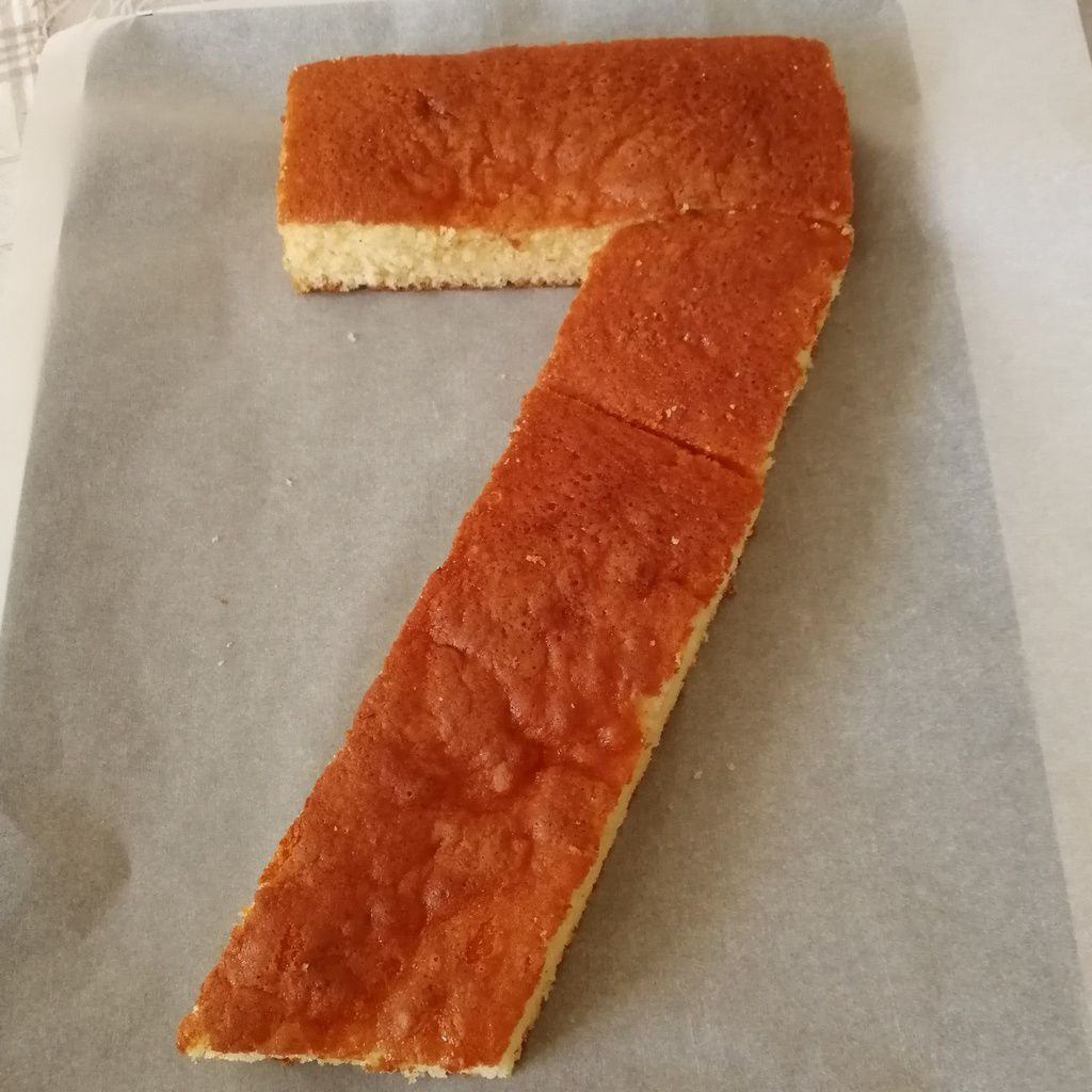 number cake 7 ans