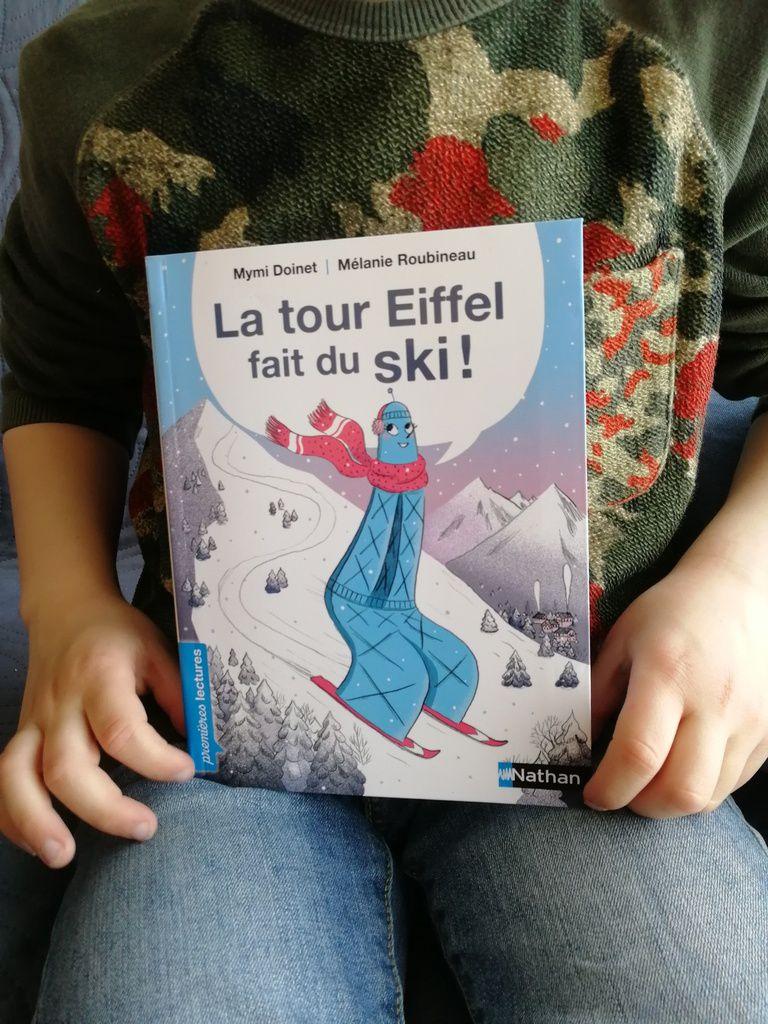 éditions Nathan, cocottes , la tour Eiffel fait du ski