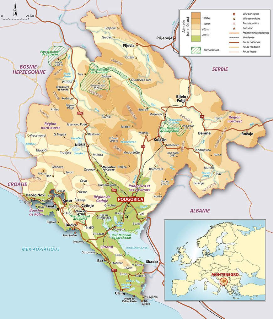 Le Monténégro: Sud et Est