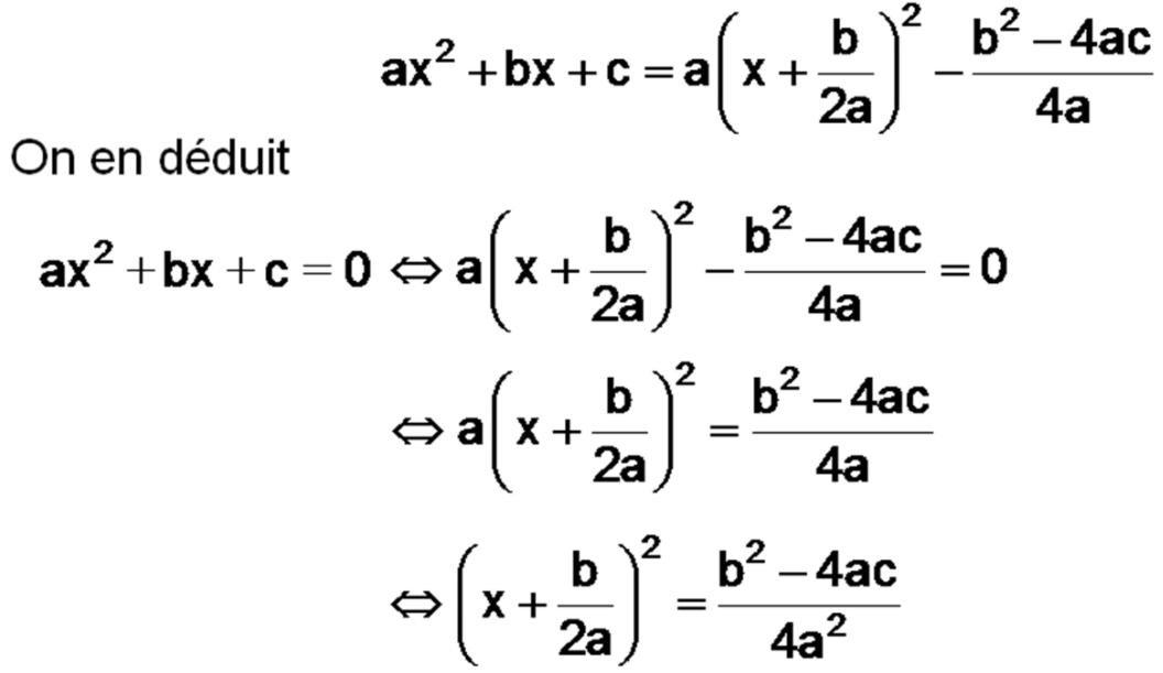 SECONDE - Le polynôme du seconde degré en forme canonisée