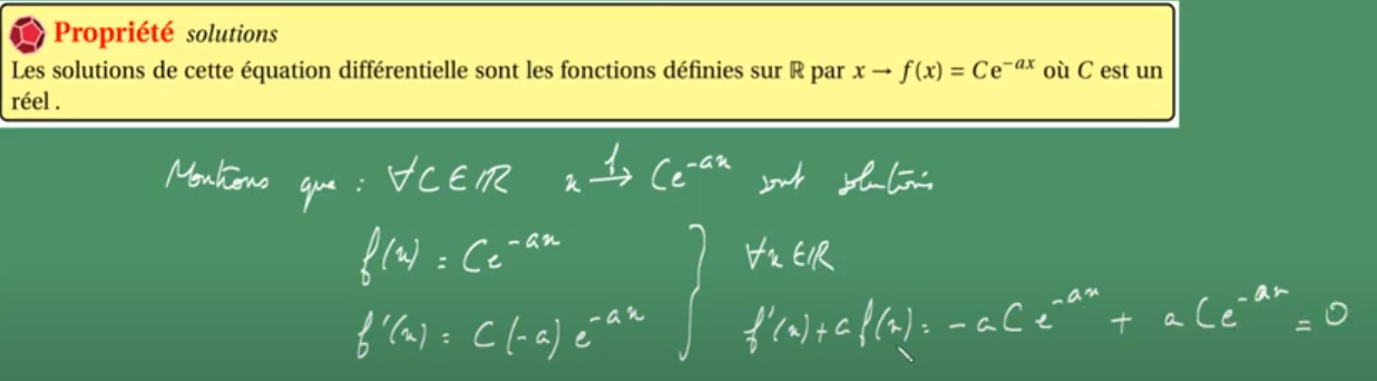 PREPA MATHS - Equation Différentielle