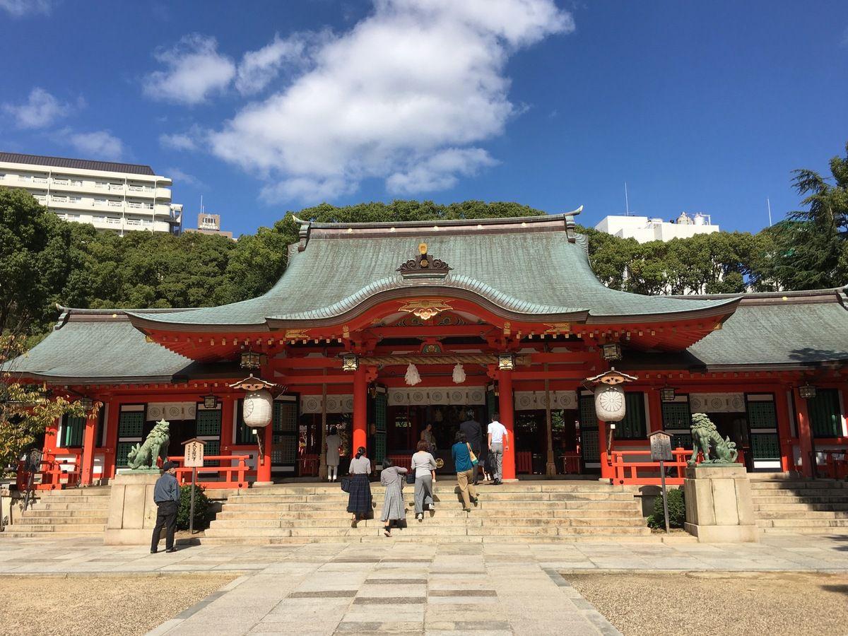Ikuta-Jinja shrine, sanctuaire shintô de Kobé