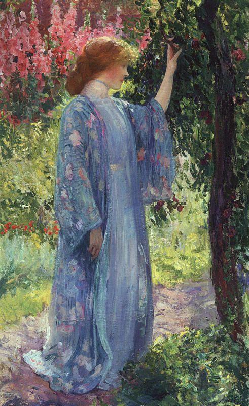 Guy Orlando Rose (1867-1925), artiste impressionniste américain, Le kimono bleu, date incertaine.