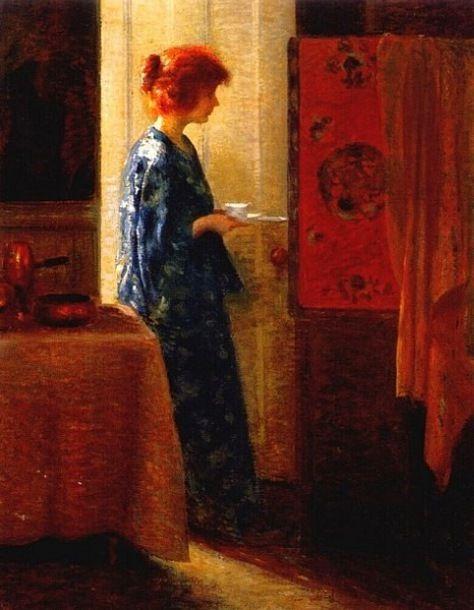 John Hubbard Rich, Jeune femme en bleu, date incertaine.