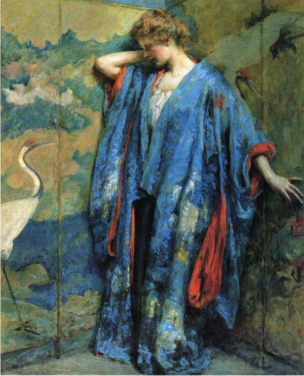 Kimono bleu, 1910.