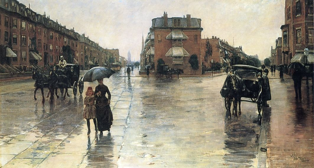 Frederick Childe Hassam, Jour de pluie à Boston, 1885. Toledo Museum of Art.