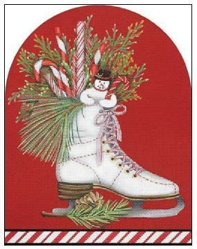 White Ice Skate par Mary Lake Thompson