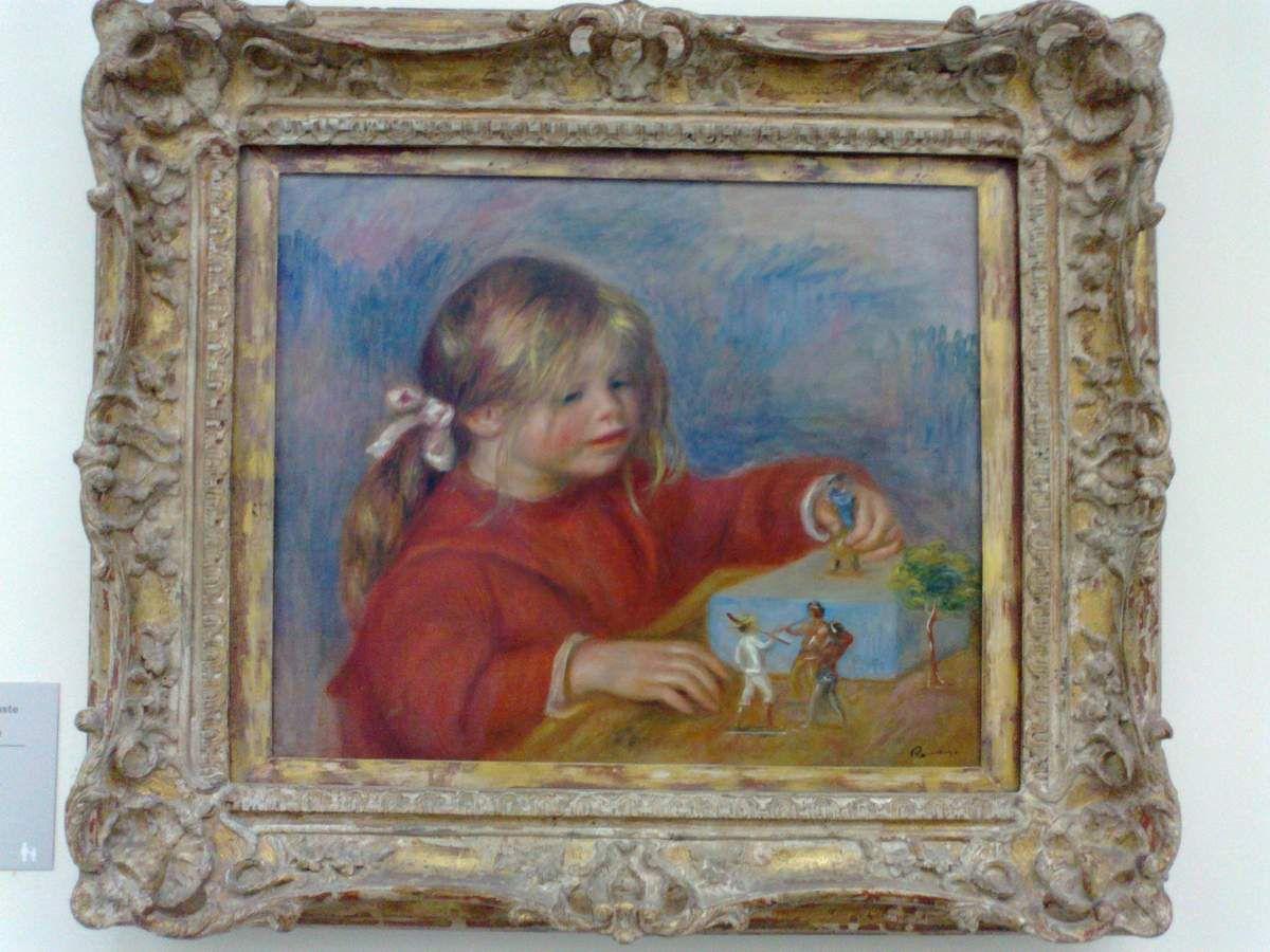 Claude Renoir jouant, vers 1905.