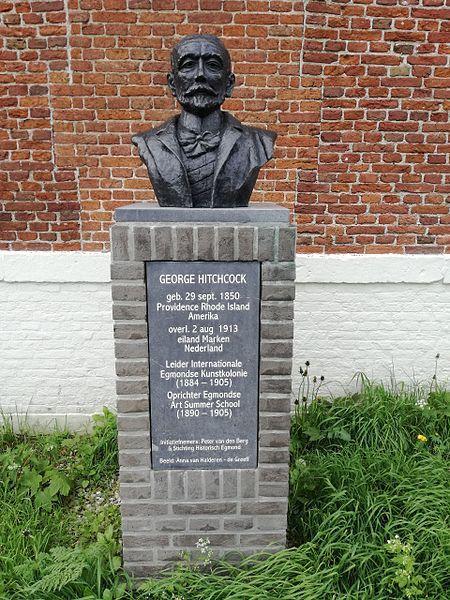Monument à George Hitchcock aux Pays-Bas, à Marten, photo par Max Von O.