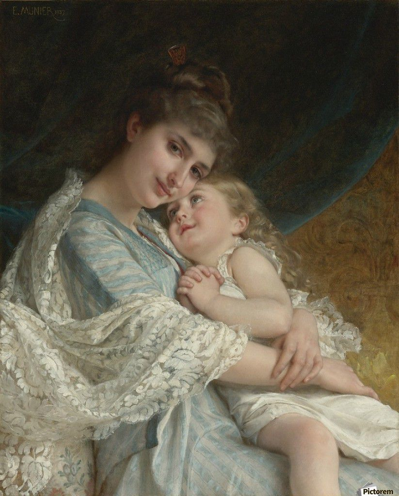 Émile Munier, Tendres enlacements.