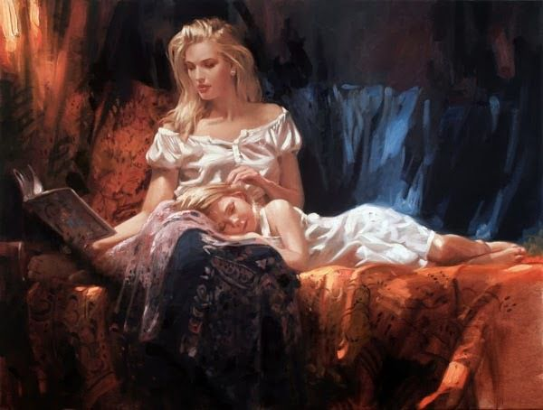 Richard S. Johnson, La lecture du soir.