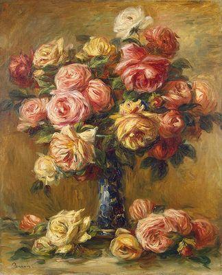 Auguste Renoir (1841-1919), Vase de roses, vers 1890.