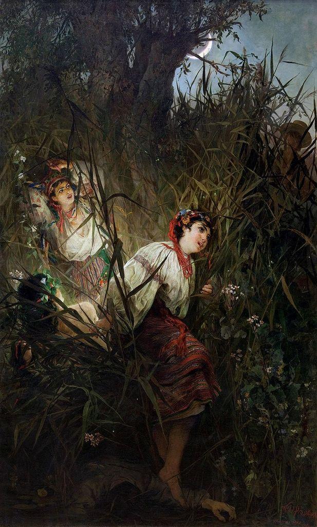 Roussałki (1877), par Witold Pruszkowski (1846-1896), peintre et illustrateur polonais.