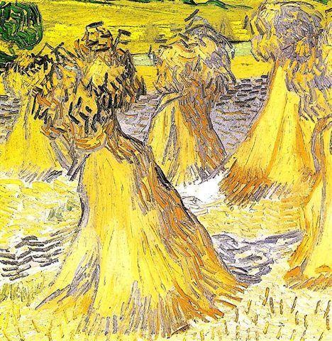 Vincent Van Gogh (1853-1890), Les gerbes (détail), juillet 1890, Dallas Museum of Art.