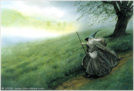 © John Howe, Gandalf the Grey
