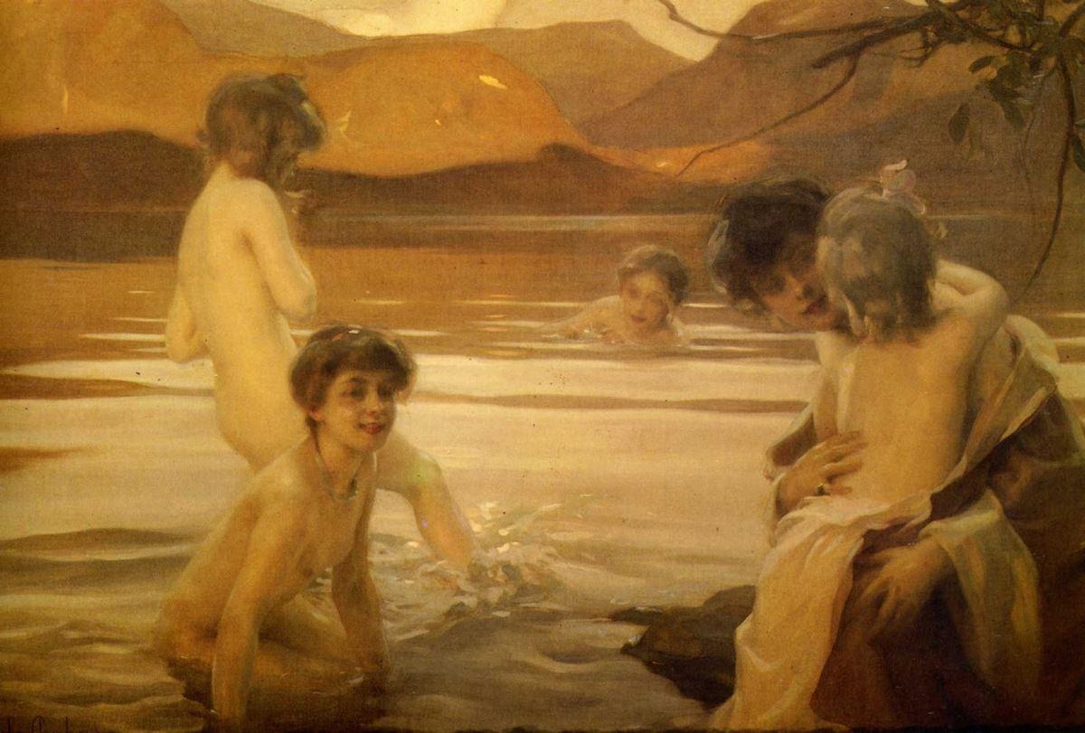 Premiers émois dans le bain