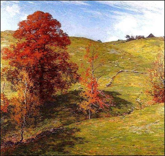 Le Tableau du Samedi, Willard Leroy Metcalf, Chêne rouge, 1911.