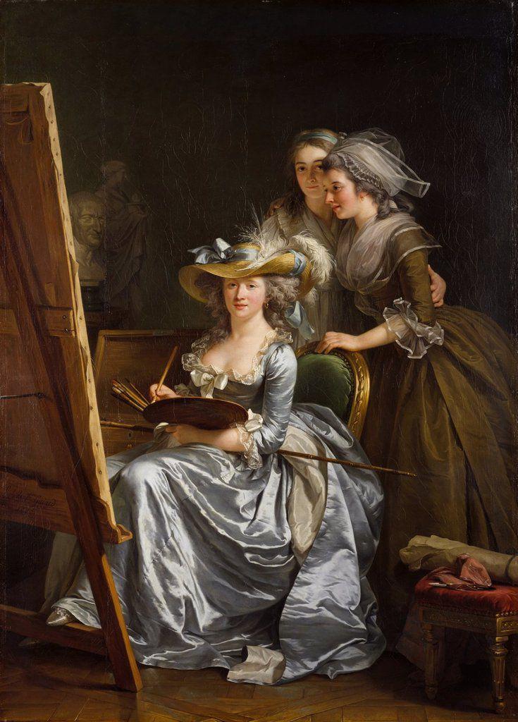 Adélaïde Labille-Guiard, Autoportrait avec deux élèves (1785), New York, Metropolitan Museum of Art.