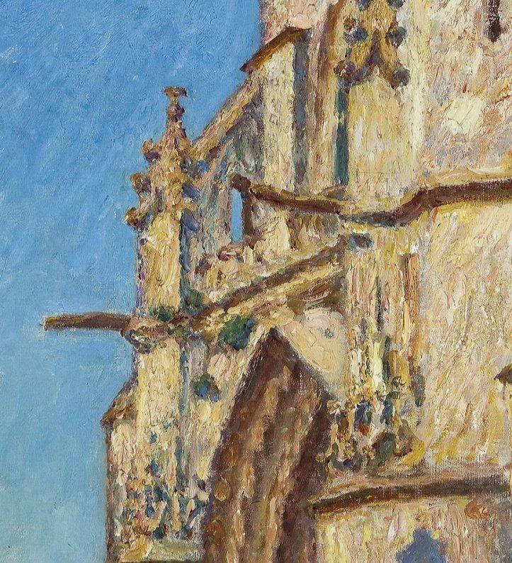 Le Tableau du Samedi: Alfred Sisley, L'église Notre-Dame de Moret-sur-Loing, le soir