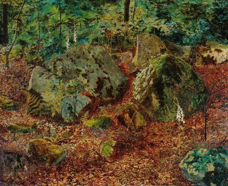 Le Tableau du Samedi: John Atkinson Grimshaw, Rochers moussus dans la forêt en Automne