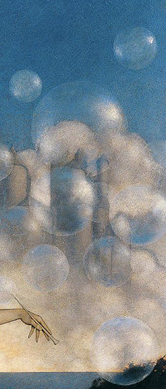Le Tableau du Samedi: Maxfield Parrish, Le Château d'Air, 1904