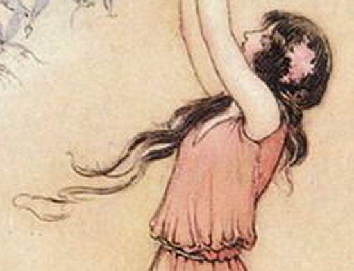 Le Tableau du Samedi: Warwick Goble, La Protectrice de la Forêt, 1913