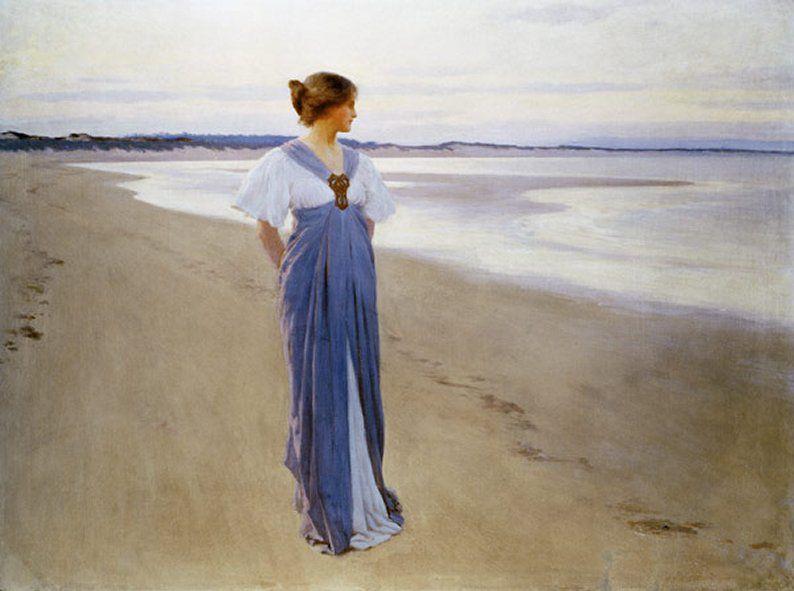 Le Tableau du Samedi: William Henry Margetson, «Au bord de la mer», 1900