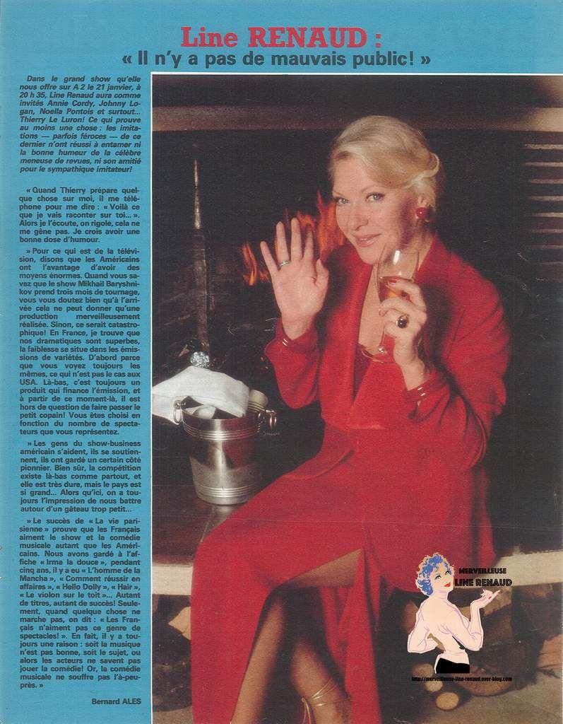 PRESSE: Coupure de presse  1981 Line Renaud