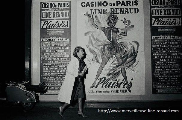 PHOTOS: Line Renaud devant l'affiche de Plaisirs
