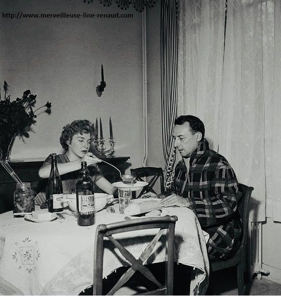 PHOTOS: Line Renaud & Loulou Gasté 1954