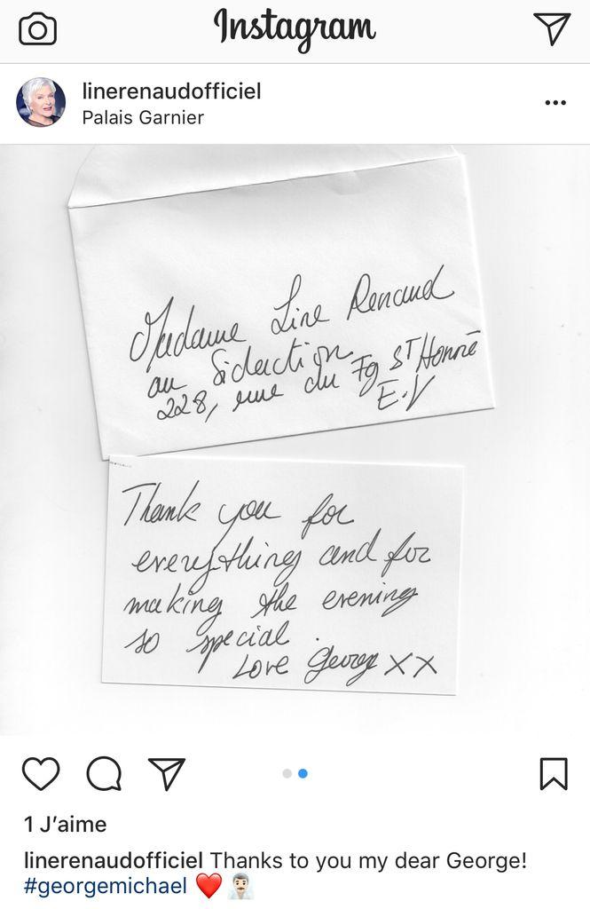 Instagram de Line: Line et George Michael