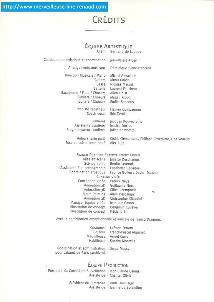 DOCUMENTS: Programme de l'Olympia 2011