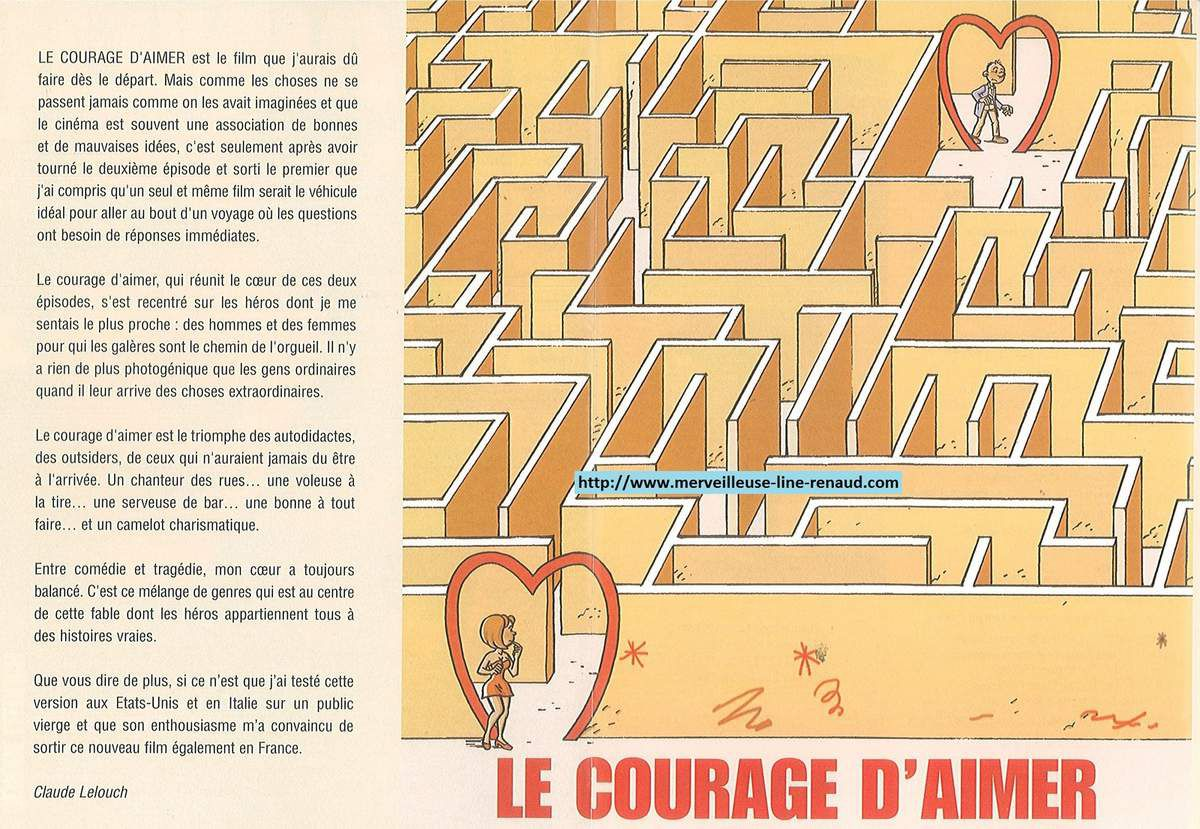 DOCUMENTS: Dossier de Presse Le courage d'aimer