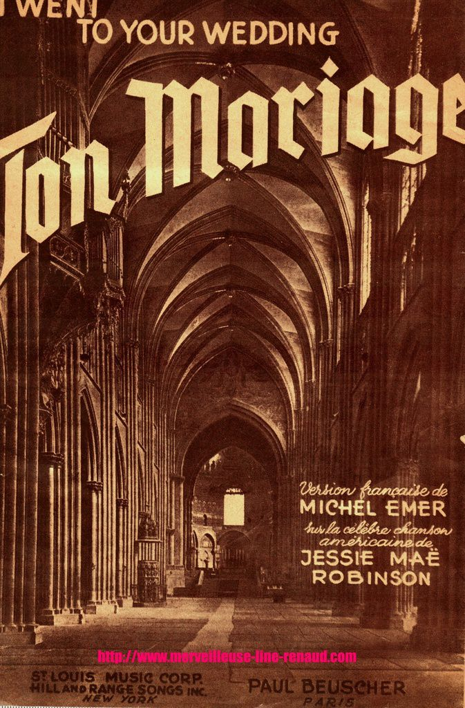 PARTITIONS: Ton Mariage