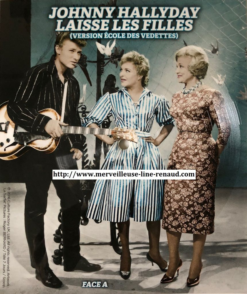45 TOURS: 2016 Culture Factory UK 3700477826710 Johnny Hallyday / Laisse les Filles (Format Carte)