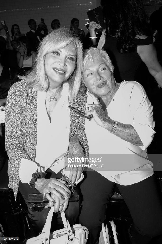 PHOTOS: Line Renaud au défilé Jean-Paul Gaultier à la Fashion Week 04/07/2018
