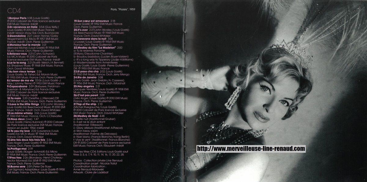 CD: 2010 EMI  4 x CD - 100 Chansons D'Or, Mes Revues, Mes Chansons