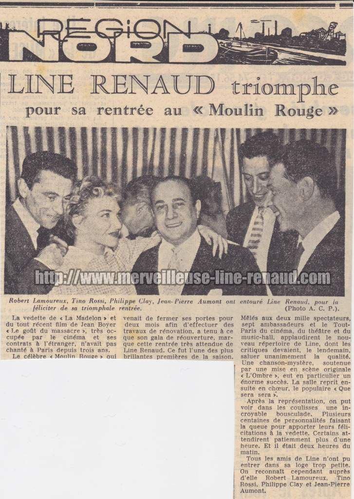PRESSE: Line Renaud Triomphe pour sa rentrée au Moulin Rouge