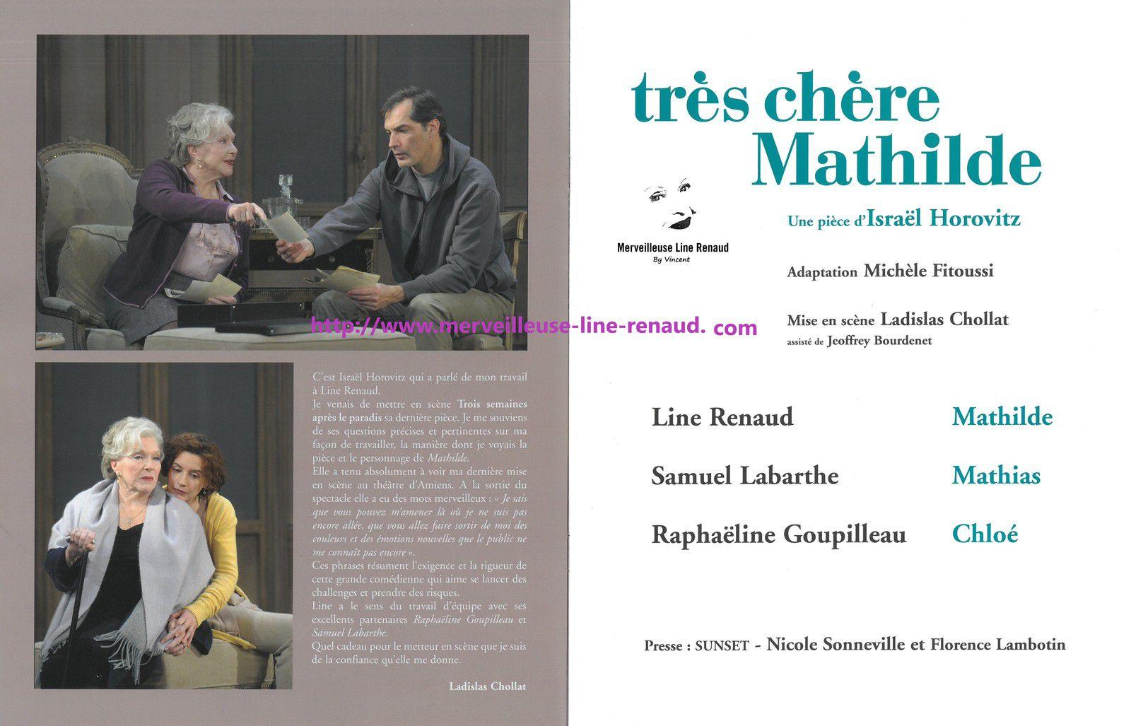 PROGRAMME: Très chère Mathilde